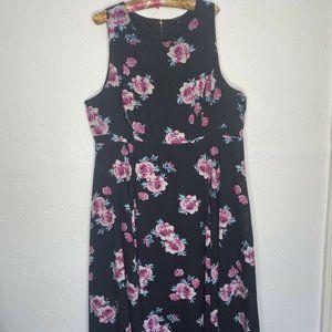 TORRID Floral High Neck Georgette Dress Maxi 24